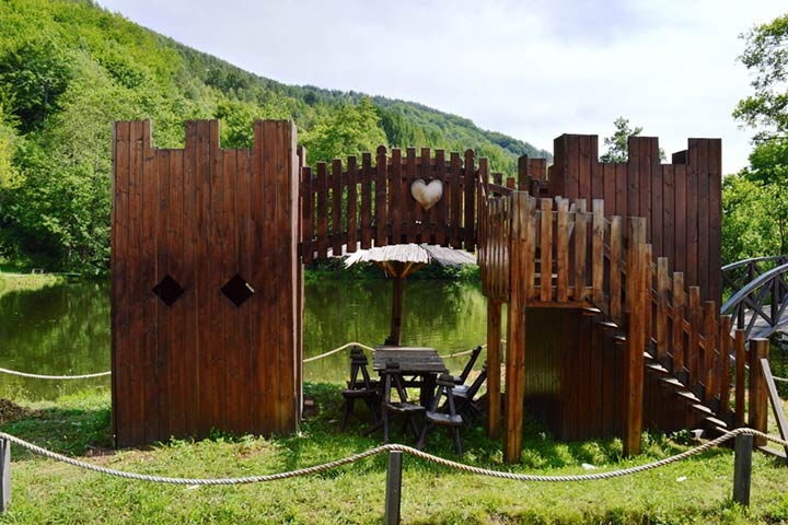 Outdoor wooden castle