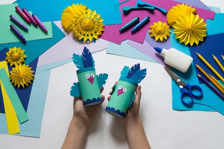 Paper cup birds