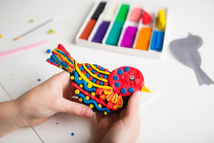 Playdough bird
