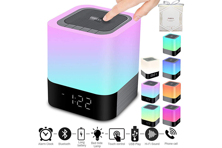 Pobees Bluetooth Speaker Alarm Clock