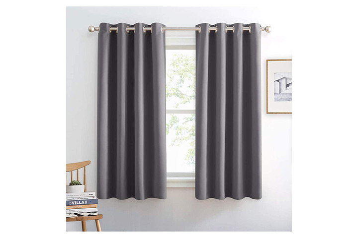 Pony Dance Grey Window Curtains