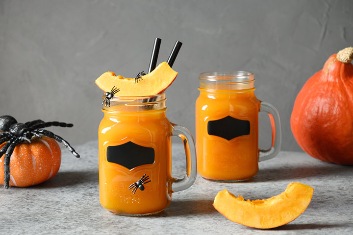 Pumpkin and ginger juice mocktail