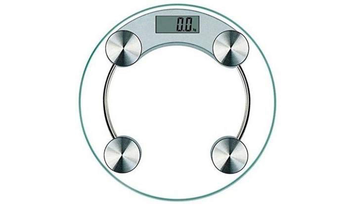 RTB Digital Round Thick Glass Weighing Scale