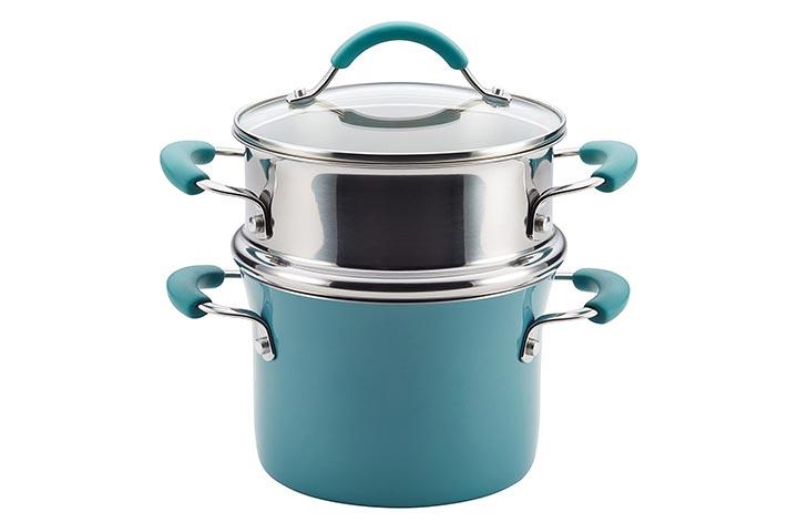 Rachael Ray Sauce Pot With Steamer Insert