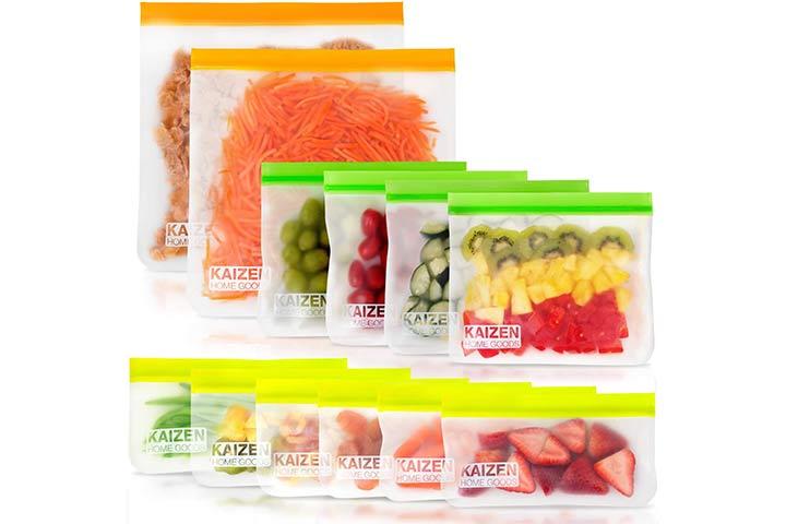 SPLF Reusable Food Storage Bags