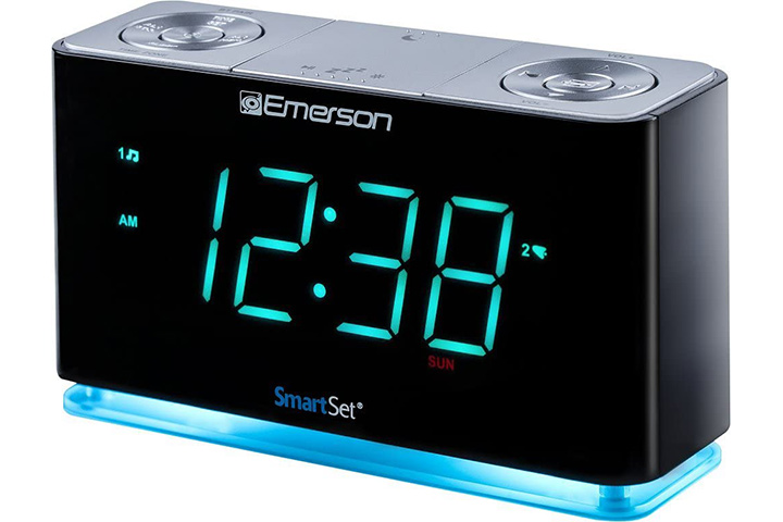 Set Alarm Clock Radio With Bluetooth Speaker