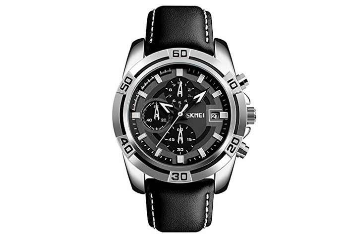 Skmei S-Shock Chronograph Black Dial Men's Watch