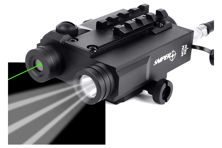 Sniper Tactical Laser Sight And LED Light Combo