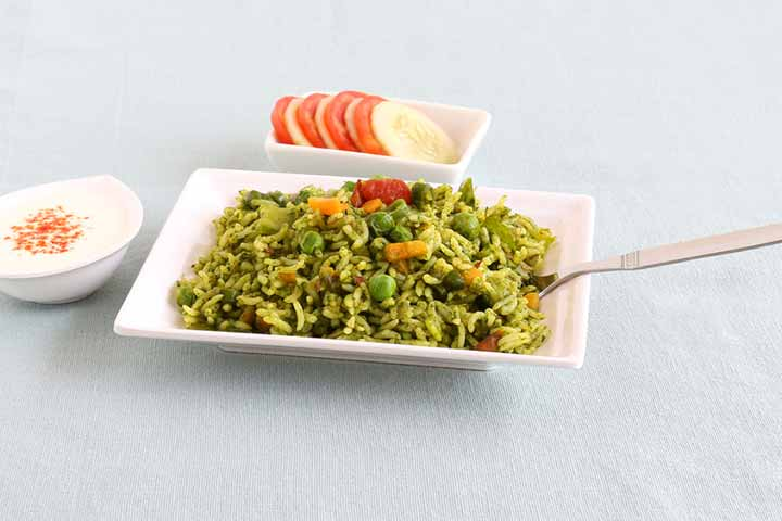 Spinach Biryani