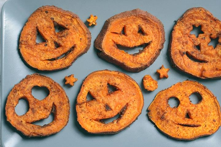 Sweet potato pumpkin face
