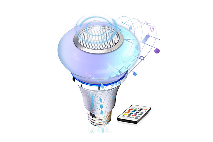 Tacahe Speaker Light Bulb Bluetooth With Remote Control