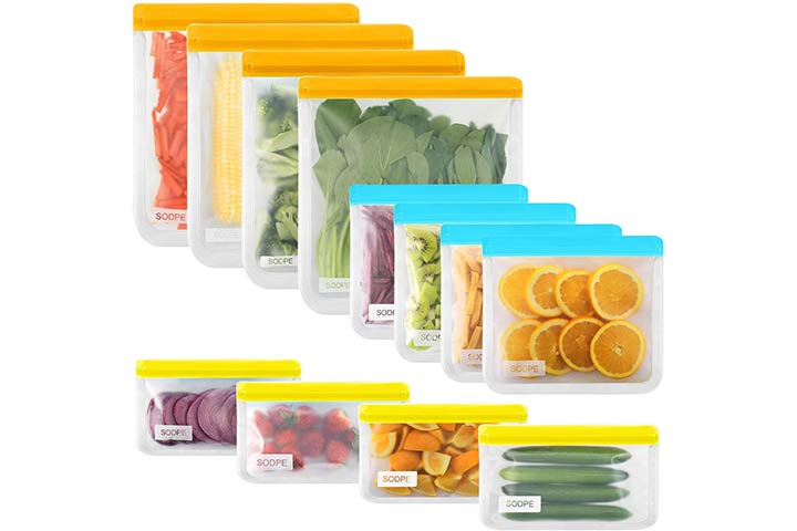 Tiblue Reusable Gallon Food Storage Bags