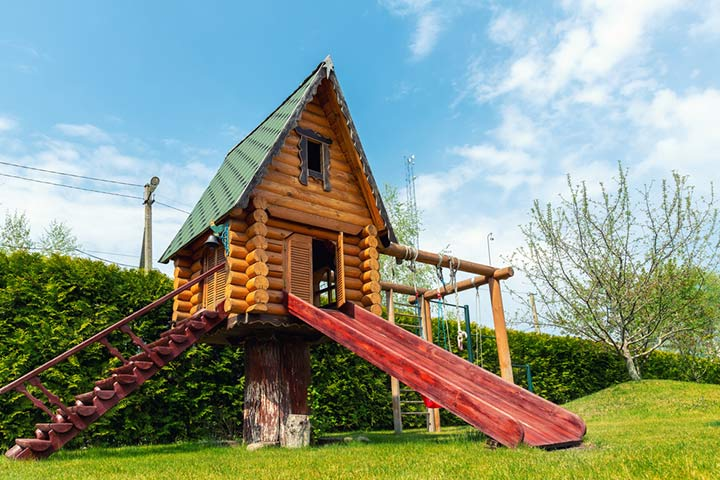 Treehouse with slides