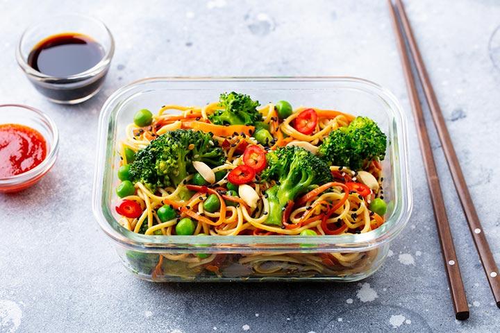 Udon with veggies