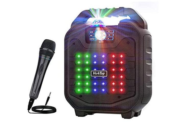 VerkTop Karaoke Machine With Bluetooth Speakers