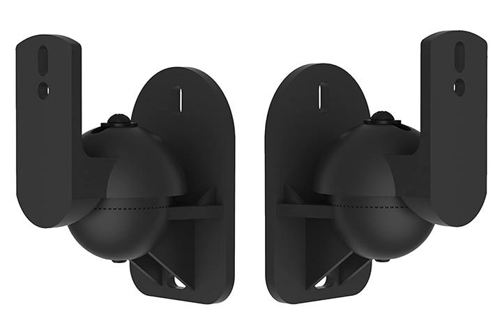 VonHaus Black Universal Wall Mount Speaker Brackets