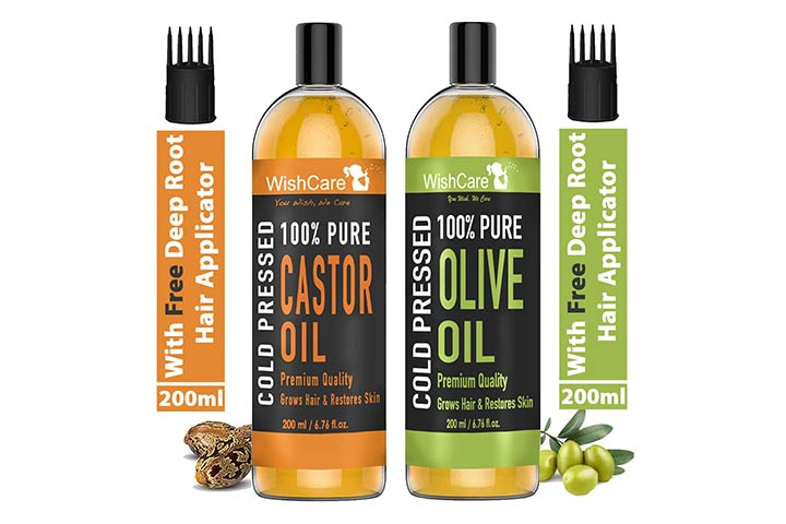 WishCare Cold-Pressed Castor And Olive Oil