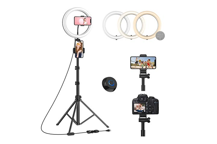 Wonew ZJ08 10 Led Ring Light With Tripod Stand