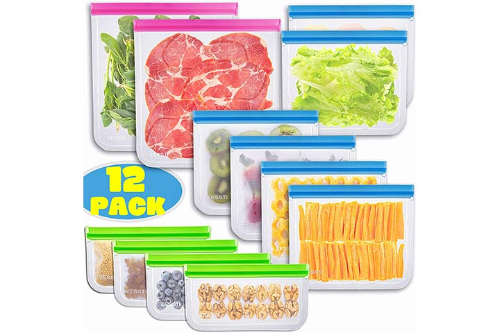 Zessti Reusable Food Storage Bags