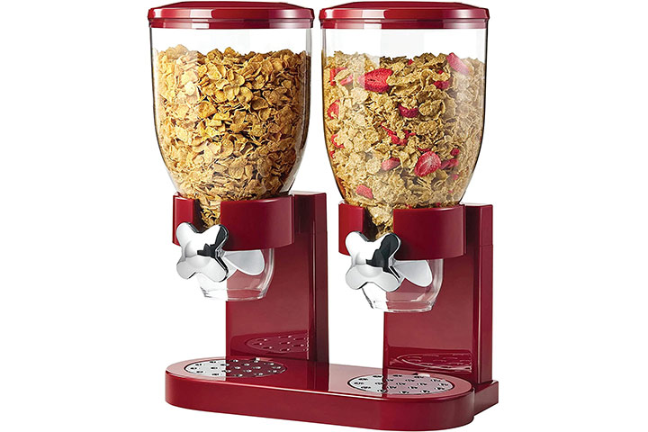 ZevrO Honey-Can-Do Double Cereal Dispenser