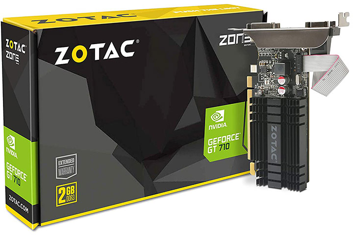 Zotac GeForce GT 710 2GB DDR3 Zone Edition Graphics Card