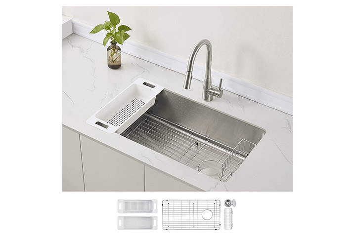 Zuhne Verona Single Bowl Undermount Kitchen Sink