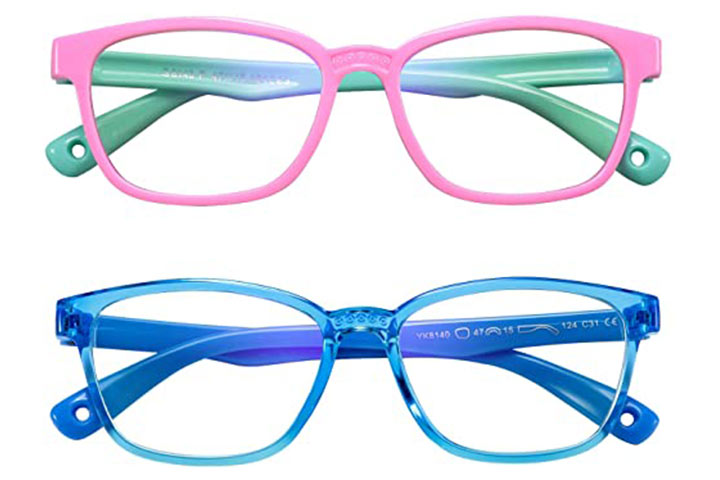 AHXLL Kids Blue Light Blocking Glasses