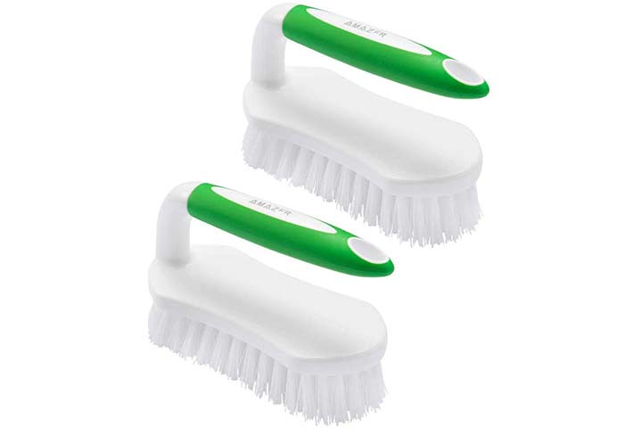 Amazer Pack of Two Scrub Brush Set