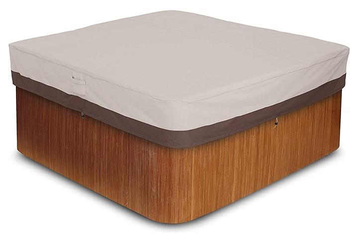 Amazon Basics Outdoor Square Hot Tub Cover