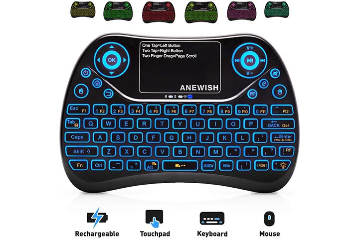 Anewish 2.4GHz Mini Wireless Keyboard