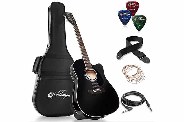 Ashtorpe Full-Size Cutaway Thinline Acoustic-Electric Guitar Package