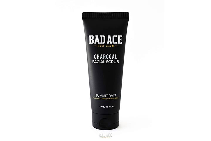 Bad Ace Charcoal Daily Face Wash with Scrubs for Men