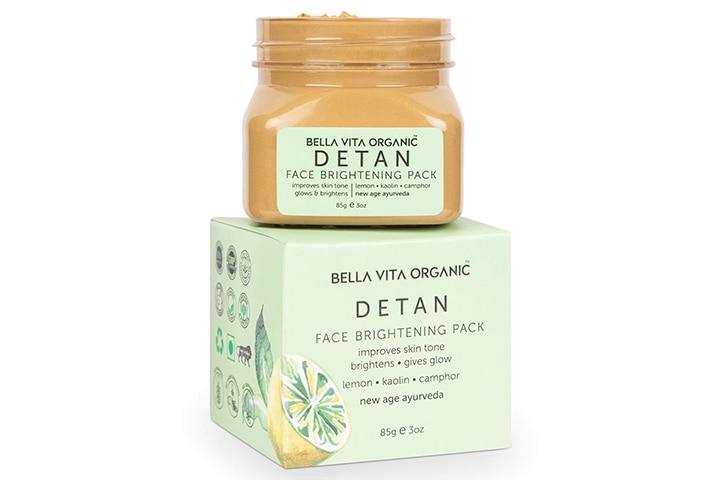 Bella Vita Organic Detan Face Brightening Mask