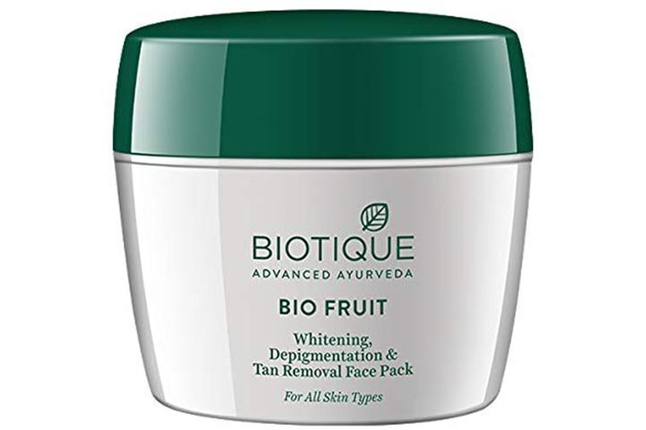 Biotique Bio Fruit Whitening Depigmentation & Tan Removal Face Pack