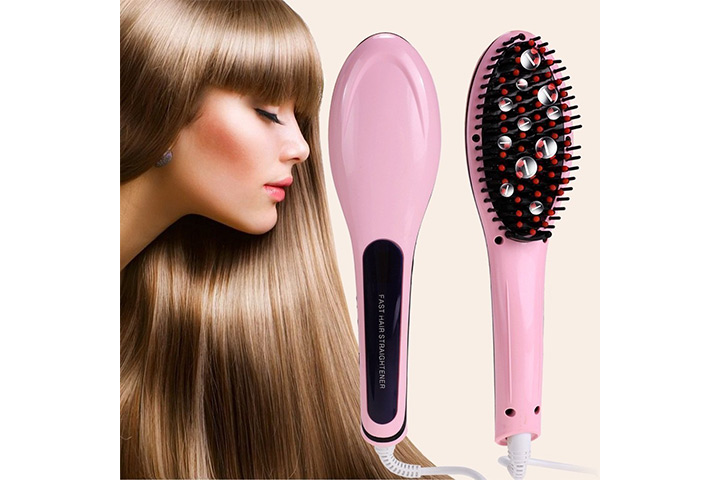 Brush 3 in 1 Ceramic Fast Hair Straightener