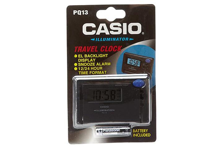 Casio Illuminator Travel Alarm Clock