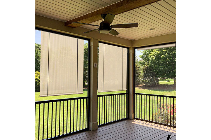 Coarbor Outdoor Rollup Shades Blinds