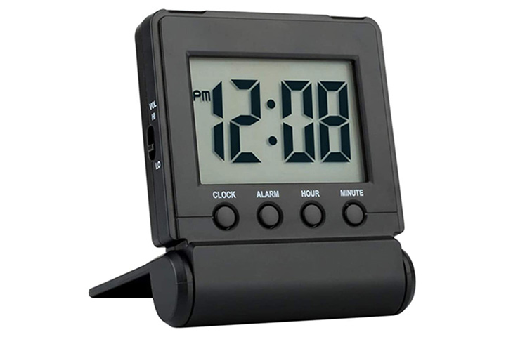FAMICOZY Compact Digital Travel Alarm Clock