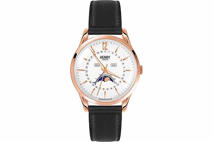 Henry London Unisex Richmond Watch With Moon Phase