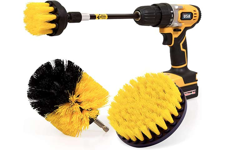 Holikme Four Pack Drill Brush Power Scrubber Cleaning Brushes