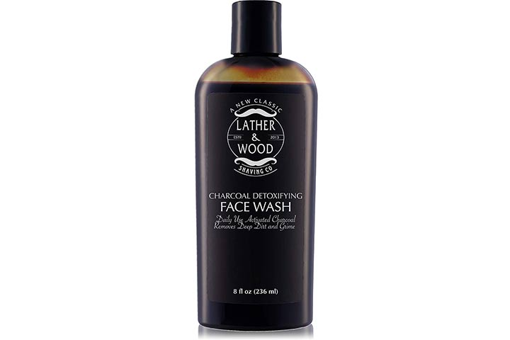 Lather & Wood Shaving Co. Activated Charcoal Face Wash For Men