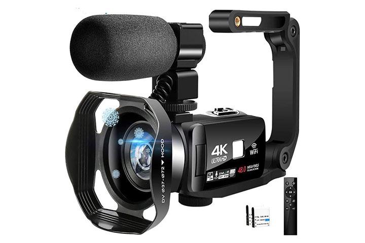 Lincom Tech 4K Camcorder Video Camera With Ultra HD Wi-Fi