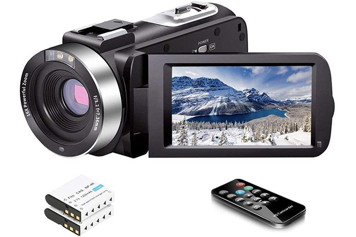 Linnse Video Camera Camcorder With Night Vision
