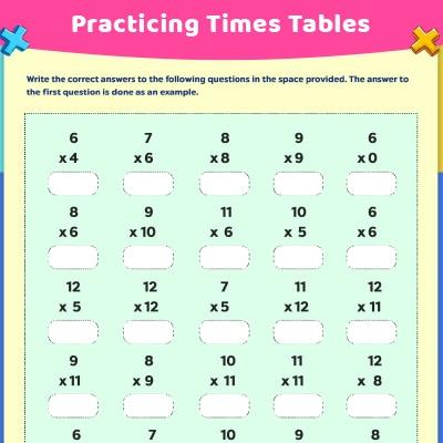 Third Grade Multiplication Worksheets For Kids - Free & Printable  MomJunction
