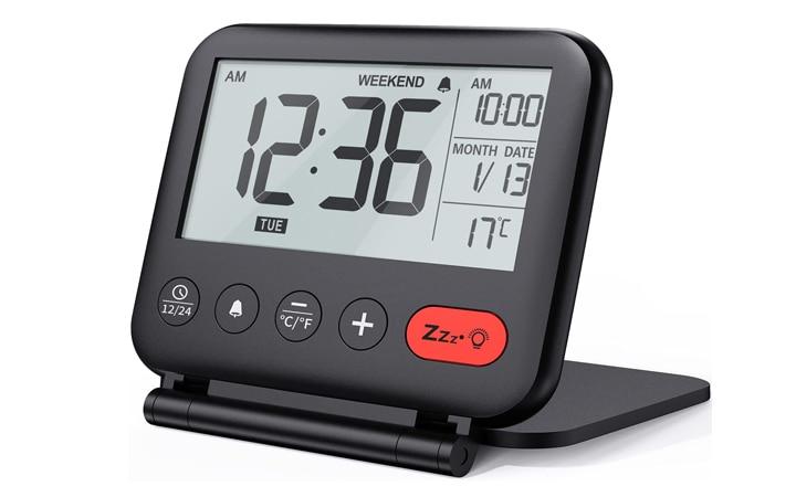 NOKLEAD Digital Travel Alarm Clock