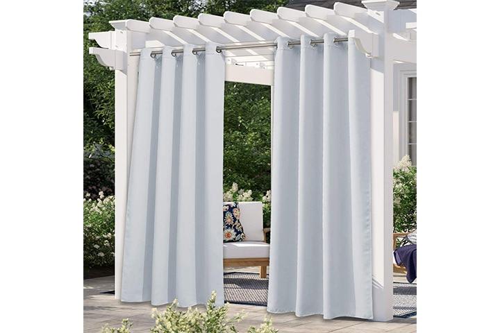Nice town Greyish White Outdoor Curtain