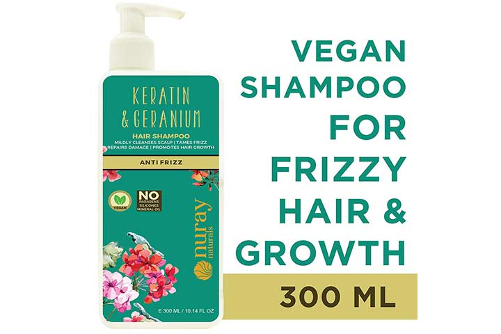 Nuray Naturals Vegan Hair Growth Keratin Shampoo