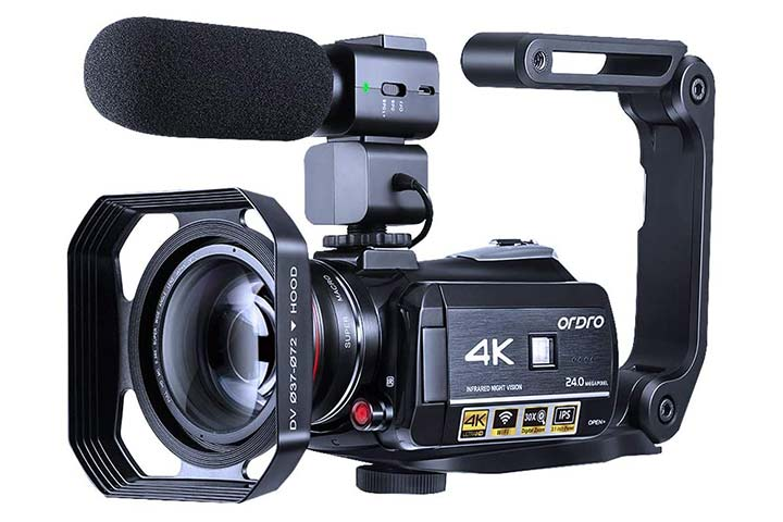 Ordro 4K Camcorder Vlogging Camera
