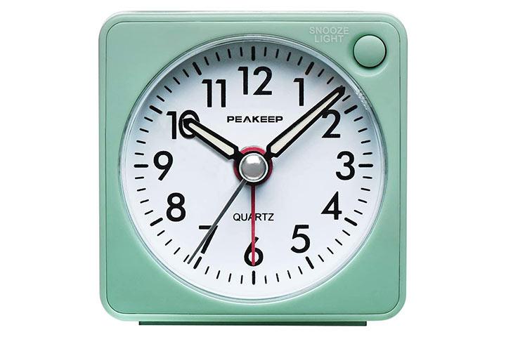 Peakeep Small Travel Alarm Clock