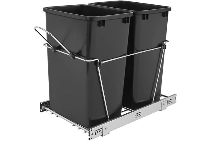 Rev-A-Shelf Sliding Pull-Out Kitchen Cabinet Waste Bin